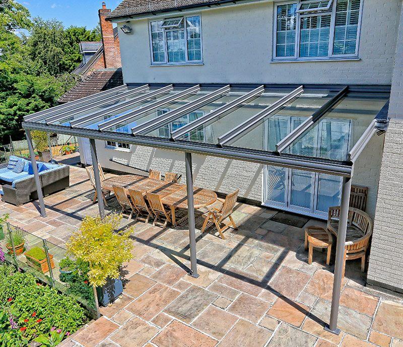 Ein Glas-Patio-Dach installieren